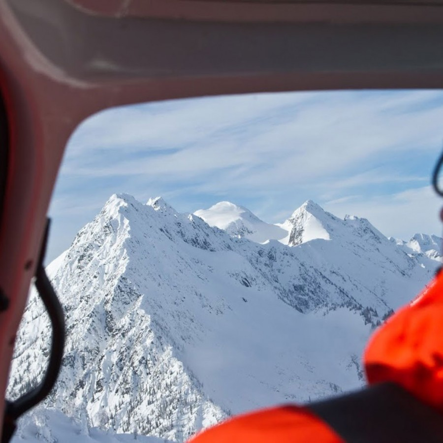 Looking at new possibilities while Helicopter Skiing in British Columbia, Canada