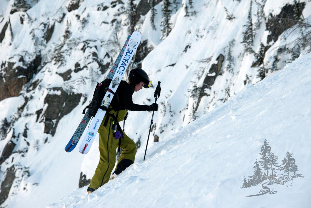 Chasing powder at Coldsmoke ski festival in Nelson, BC.