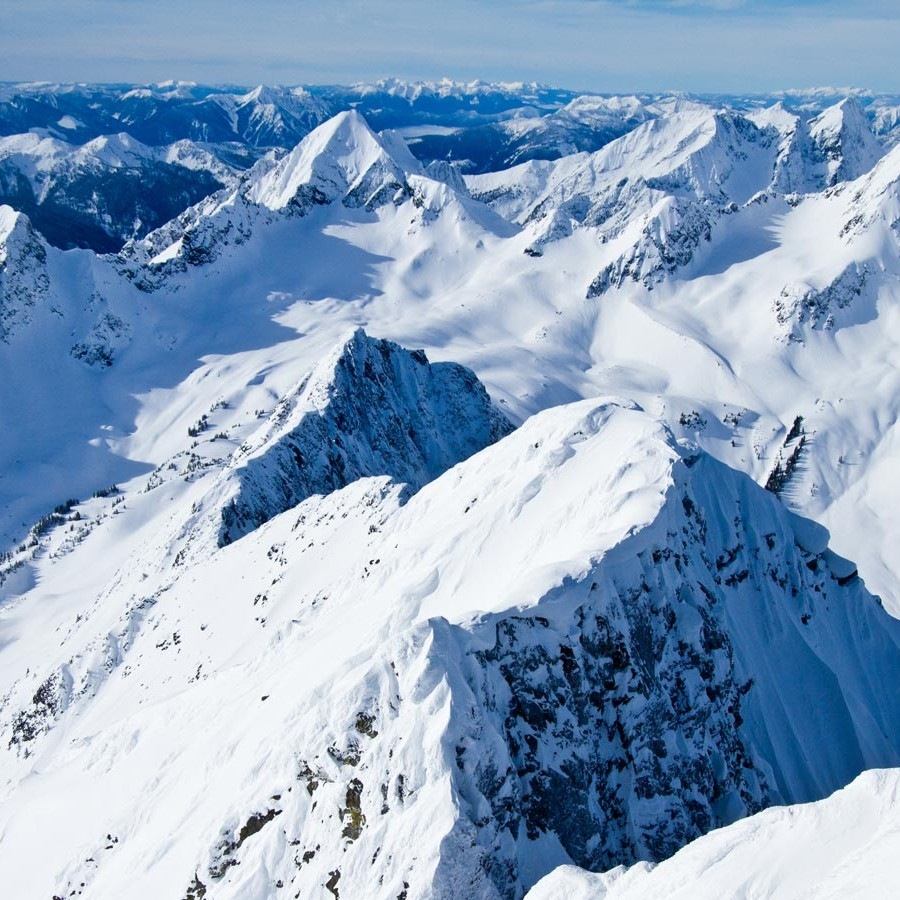 The Selkirk and Purcell Mountain Ranges – Stellar Heliskiing's backdoor