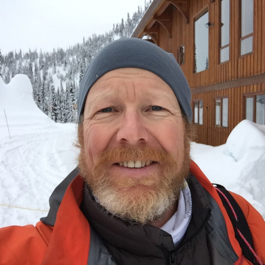 Lee Usher, one of Nelson's best heli ski guides